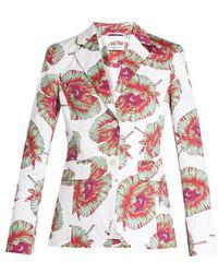 Altuzarra - Fenice Abstract-floral Print Blazer - Lyst