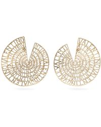 Valentino - Logo Embellished Circle Earrings - Lyst