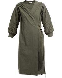 MASSCOB - Marco Long Sleeve Wrap Dress - Lyst