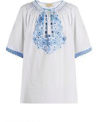 Muzungu Sisters - Eva Embroidered Cotton Top - Lyst