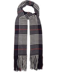 Isabel Marant - Checked Cashmere Scarf - Lyst