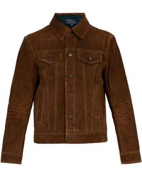 Polo Ralph Lauren - Flannel Lined Suede Jacket - Lyst
