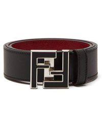 Fendi - Ff Logo-buckle Leather Belt - Lyst