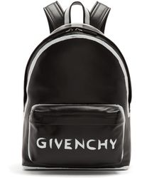 Givenchy - Graffiti Logo Leather Backpack - Lyst
