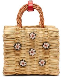 Heimat Atlantica - Shella Mini Reed Basket Bag - Lyst