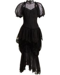 Simone Rocha - Lace Embellished Tulle Dress - Lyst