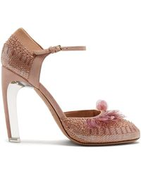 Valentino - Mary-jane Knitted Court Shoes - Lyst