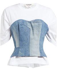 Junya Watanabe - Denim Bustier Overlay T Shirt - Lyst