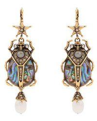 Alexander McQueen - Embellished Beetle-drop Abalone Earrings - Lyst