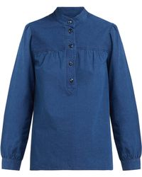 A.P.C. - Loula Cotton Chambray Blouse - Lyst
