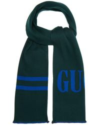 Gucci - Reversible Logo Jacquard Wool And Silk Blend Scarf - Lyst