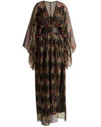 Zandra Rhodes - - Archive Ii The 1967 Lipstick Gown - Womens - Black Print - Lyst