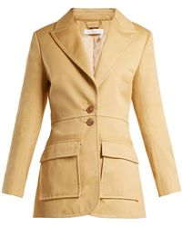 Chloé - Single-breasted Cotton-gabardine Blazer - Lyst