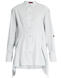 Sies Marjan - Ruffled Cotton-seersucker Shirt - Lyst