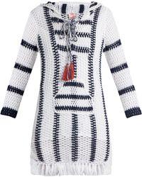 Anna Kosturova | Cape Cod Striped-crochet Hooded Dress | Lyst