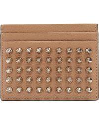 Christian Louboutin | Kios Spike-embellished Leather Cardholder | Lyst