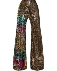 Halpern - Sequin-embellished High-rise Flared Trousers - Lyst
