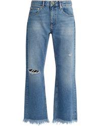 Raey Max Asymmetric Hem Wide Leg Jeans