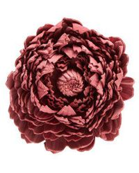 Loewe - X William Morris Ancient Rose Leather Brooch - Lyst