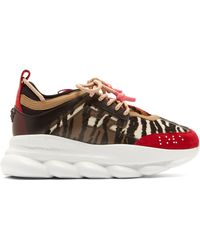 Versace - Chain Reaction Animal Pattern Trainers - Lyst
