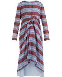 Sies Marjan - Elodie Striped Jacquard Silk Dress - Lyst