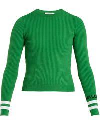 Valentino - Crew-neck Ribbed-knit Jumper - Lyst