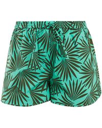 Diane von Furstenberg - Elasticated Waist Stretch Cotton Shorts - Lyst
