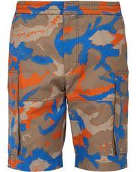 Valentino - Short cargo en sergé de coton à imprimé camouflage - Lyst