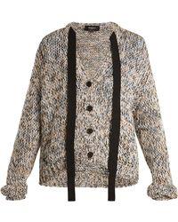 Rochas - Tie-neck Cotton Cardigan - Lyst