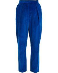 Maison Rabih Kayrouz | High-rise Tapered-leg Cotton-corduroy Trousers | Lyst