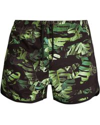 Neil Barrett | Camouflage Palm Leaf-print Swim Shorts | Lyst