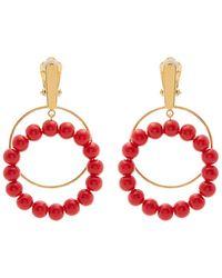 Marni - Beaded Hoop Clip-on Earrings - Lyst