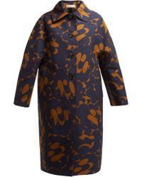 Marni - Belou Print Cotton Single Breasted Coat - Lyst