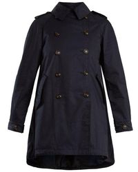 Woolrich - Lightweight Coated-cotton Trench Coat - Lyst