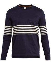 Paul Smith - Striped Long-sleeved Crew-neck T-shirt - Lyst
