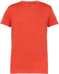 120% Lino - Slubbed Linen Crew Neck T Shirt - Lyst