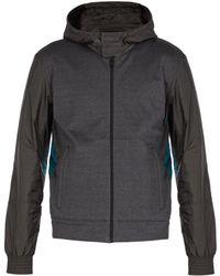 Prada - Hooded Windbreaker Jacket - Lyst