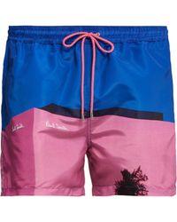 Paul Smith - Placement Print Swim Shorts - Lyst