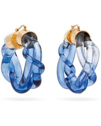 Marni - Twisted Plexi Hoop Earrings - Lyst