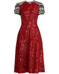 Mary Katrantzou | Robin Short-sleeved Sequin-embellished Dress | Lyst