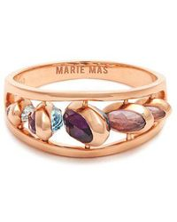 Marie Mas - Amethyst, Topaz & Pink-gold Ring - Lyst