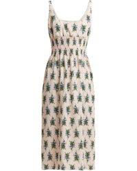 Emilia Wickstead - Giovanna Floral Print Crepe Midi Dress - Lyst