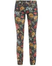 Junya Watanabe - Floral-print Cotton-blend Jeans - Lyst