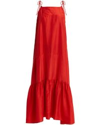 Loup Charmant - Kalahari Tie-shoulder Silk-georgette Dress - Lyst