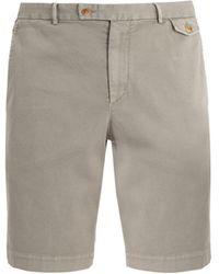 Boglioli - Slim-leg Cotton-blend Shorts - Lyst