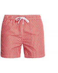 Onia - Charles Geometric-print Swim Trunks - Lyst