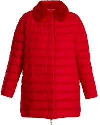 Moncler - Winnipeg Fur-trimmed Quilted-down Cashmere Coat - Lyst
