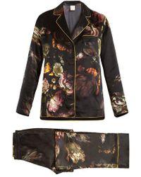 Morpho + Luna - Ines Floral-print Silk-satin Pyjama Set - Lyst