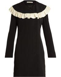 Emilia Wickstead - Lisbet Ruffled Bib Crepe Cady Dress - Lyst