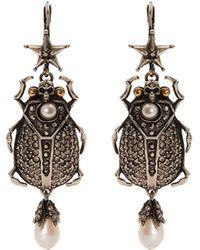 Alexander McQueen   Embellished-beetle Earrings   Lyst